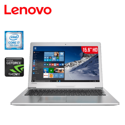"Laptop Lenovo Ideapad 510 Core i7 12GB 1TB Tarjeta de Video Geforce 940MX 15.6"" HD"