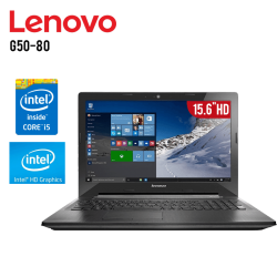 "Laptop Lenovo G50-80 Intel Core i5-5200U, 4GB RAM, 1TB DD, T. de Video Intel HD Graphics, Grabador DVD 15.6"" HD, W10"