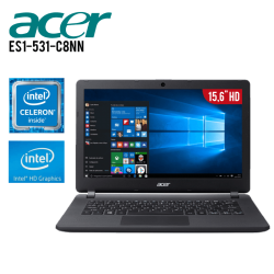 "Laptop Acer Aspire ES1-531-C8NN Celeron N3050 4GB 500GB Tarjeta de Video HD Graphics 15.6"" HD"