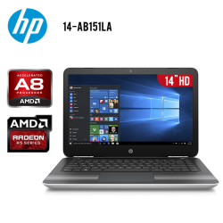 "Laptop HP Pavilion 14-AB15LA AMD A8 4GB 1TB Tarjeta de Video Radeon R5 14"" HD"