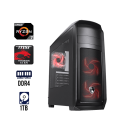 Computadora Gaming AMD Ryzen 7 Placa Msi B350 8GB Tarjeta de Video Msi RX-470 ANTRYX RX-370