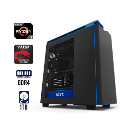 Computadora Gaming AMD Ryzen7 1700X Placa Msi B350 16GB 1TB Tarjeta de Video Msi RX 480 NZXT H440 MID