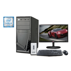 "Computadora de escritorio Intel Core I3-6100, 4GB RAM, 1TB DD, 18.5"" LED, DVD supermulti, kit Teclado + Mouse + Parlante Genius"