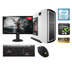 "Computadora Gamer Intel Core I7 16GB 1TB GeForce GTX 1070 27"" FHD MidTower Corsair"