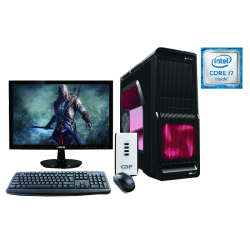 "Equipo de Computo Intel Core I7-6700, 8GB RAM, 1TB DD, FULL HD 21.5"", DVD Writer LG, kit de Teclado +Mouse Genius"