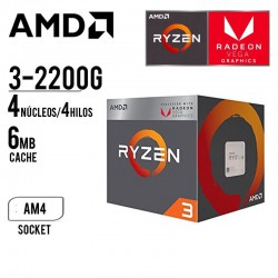 "COMPUTADORA TECNIC II AMD RYZEN 3-32200G 8GB 1TB T. VIDEO GTX 105TI 4GB 21.5"" FHD"