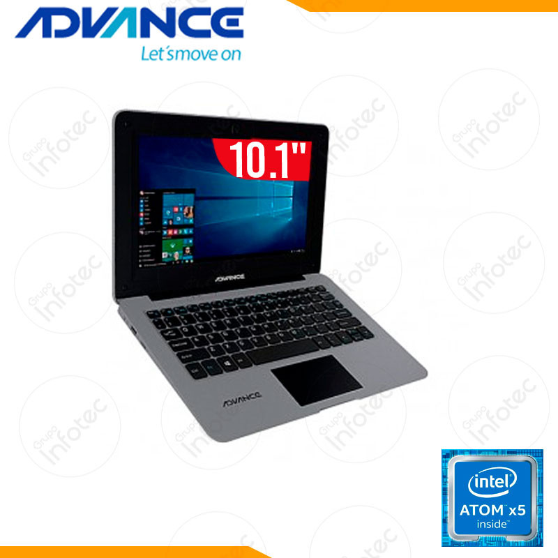 LAPTOP ADVANCE NV980101 INTEL ATOM-Z8350 2 GB RAM 32GB EMMC 10 PULG  WIN 10 GRAY