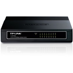 Switch TP-Link, TL-SF1016D, 16 Puertos RJ45, 10/100MBPS, Plug and Play