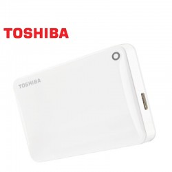 Disco Duro Externo Toshiba 1TB USB 3.0 Canvio Connect II Blanco Backup Pc+Mac