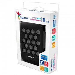 "Disco Duro Externo Adata Negro 1TB AHD720 2.5"", SuperSpeed USB 3.0, Compatible con Windows, Mac OS, Linux, Resistente al agua."