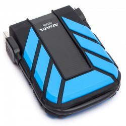 "Disco Duro Externo Adata Waterproof, Azul, Resistente al Agua, AHD710, 2TB, 2.5"", USB 3.0, WIndows-Linux-Mac"