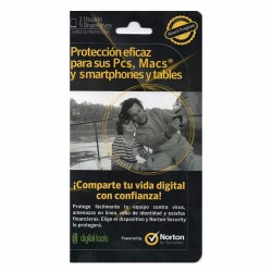 Antivirus Norton Internet Security Licencia p/5 PC's, Protección contra Amenazas de Internet, Attach Card