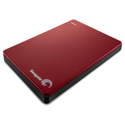 Disco Duro Externo Seagate 2TB Slim Backup Plus , Rojo, 159 gr, Usb 3.0