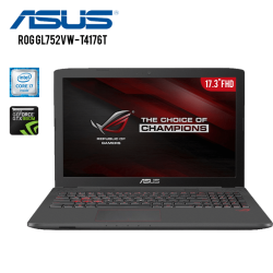 "Laptop Gamer Rog GL752VW-T4176T Intel Core i7-6700HQ, 16GB RAM, 1TB DD, T.video GTX 960M 4GB GDDR5 , DVD, LED FHD 17.3"", W 10"