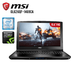 "Laptop MSI GL62 6QF-1469CA Core i7-6700HQ, 12GB RAM, 1TB + 128GB SSD, T.Video GTX 960, DVD Super Multi, 15.6"" FHD, W10"