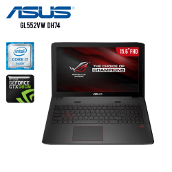 "Asus Gamer GL552VW-DH74 Core i7-6700HQ, 16GB RAM, 1TB +128GB SSD, T.Video GTX 960M 4GB GDDR5, DVD, 15.6"" FHD, W10"