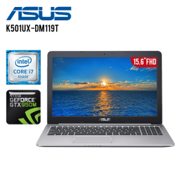 "Laptop ASUS K501UX-DM119T Intel Core i7-6500U 2.50Ghz, 12GB RAM, 1TB DD, T. Video GTX950M 4GB, LED Full HD 15.6"", Win. 10"