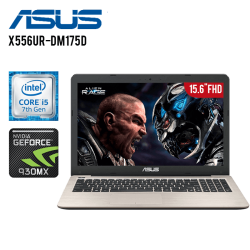 "Laptop Asus Vivobook X556UR-DM175D Intel Core i5-7500U, 8GB RAM, 1GB DD, T.Video NVIDIA GeForce 930MX, DVD, 15.6"" FHD, FreeDos"