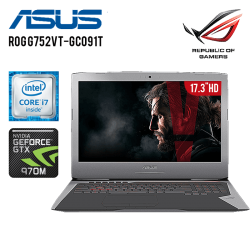 Laptop ASUS ROG G752VT-GC091T Core i7-6700HQ 2.60GHZ, 16GB, 1TB HDD + 128GB SSD, Nvidia GTX 970M 3GB, BlueRay, LED FHD, W10