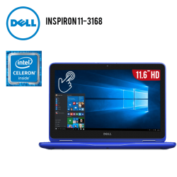 "Laptop Dell Inspiron 11-3168 Intel Celeron N3060 2.4GHZ, 2GB RAM, HD 32GB EMMC, 11.6"" HD TOUSCHSCREEN, WIFI, WEBCAM, WINDOWS 10"