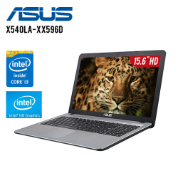 "Notebook Asus X540LA-XX596D Intel Core i3-5005U, 4GB RAM DDR3, 500GB DD, T.Video Intel HD Graphics, DVD, LED 15.6"" HD, FreeDos"