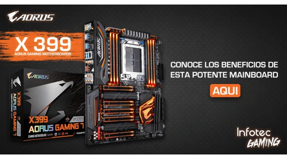 Beneficios de la Mainboard X399 AORUS Gaming 7